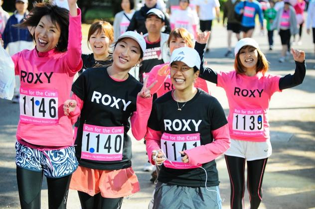 Roxy Japan Runs for a Cure